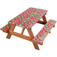 Deluxe Picnic Tablecover with Cushions by Homestyle Kitchen, Watermelon