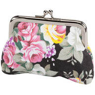 Vintage Rose Cloth Coin Purse