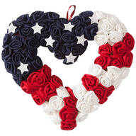 Heart-Shaped Patriotic Wreath