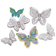 3D Butterfly Wall Coloring Decor