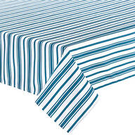 William Roberts Blue Stripe Tablecloth