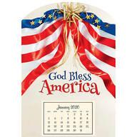 Mini Magnetic God Bless America Calendar