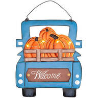 Harvest Blue Truck Welcome Sign by Fox River Creations™