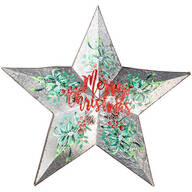 Merry Christmas Metal Star