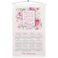 Personalized Blessed Roses Calendar Towel