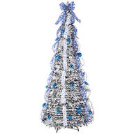 7' Snow Frosted Winter Style Pull-Up Tree by Holiday Peak™