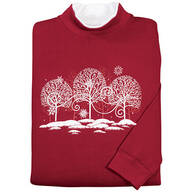 White Trees with Swirls Sweatshirt