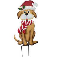 Solar Christmas Dog Stake