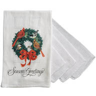 Holiday Wreath Flour Sack Towel with Bonus 4-Pc. Utility Cloths