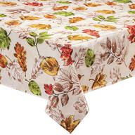 Pressed Leaves Oilcloth Tablecloth