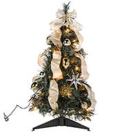 2-ft. Silver & Gold Pull-Up Tree