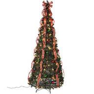 7-ft. Plaid Pull-Up Tree