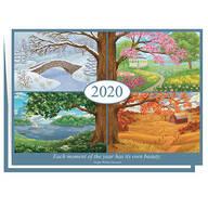 Four Seasons Calendar Christmas Card Set of 20