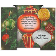 Personalized Twinkling Ornaments Christmas Card Set of 20