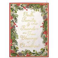 Faith, Family, Friends Christmas Card Set of 20