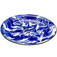 "Blue Marble Enamelware 16"" Platter by Home Marketplace"