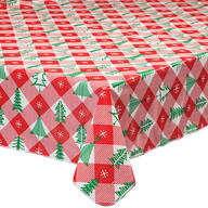 Vintage Holiday Tree Vinyl Table Cover by Chef's Pride