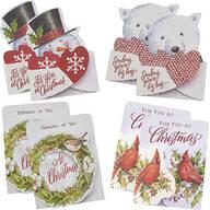 Christmas Die Cut Money Card Holders, Set of 8
