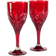 Dublin Red Acrylic Wine Glasses, Set of 2
