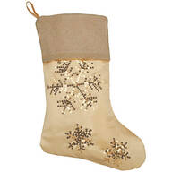 Silver & Gold Stocking by Holiday Peak™