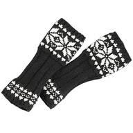 Snowflake Fingerless Gloves