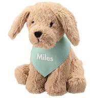 Personalized Stuffed Dog with Bandana