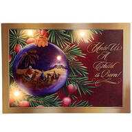 Nativity Ornament Lighted Canvas