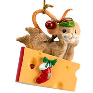 "Charming Tails® ""Waiting Up for Santa"""