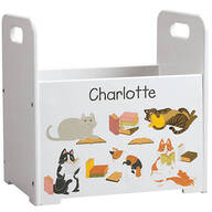 Personalized Reading Cats Book Caddy