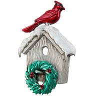 Birdhouse Cardinal Pewter Pin