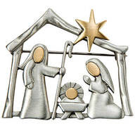 Nativity Pewter Pin