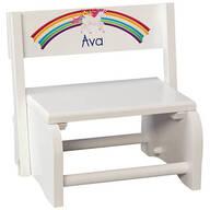 Personalized Children's Unicorn Step Stool