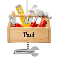 Personalized Tool Box Ornament