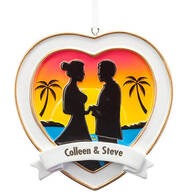 Personalized Beach Wedding Ornament