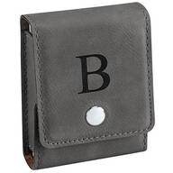 Personalized Leather Card Holder with Playing Cards