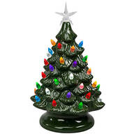 Battery-Operated Vintage-Style Ceramic Tree
