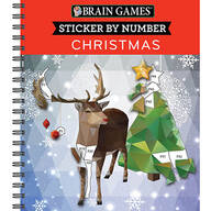 Brain Games® Sticker-by-Number Christmas