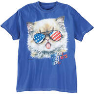 Patriotic Party Kitten T-Shirt