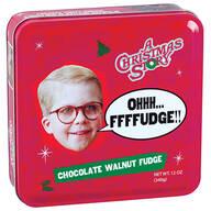 A Christmas Story Fudge Tin, Chocolate Walnut, 12oz.