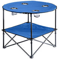 Blue Folding Picnic Table