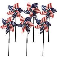 Patriotic Lawn Pinwheels, Set of 6