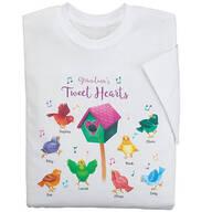 Personalized Grandma's Tweet Hearts T-Shirt