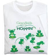Personalized Grandkids Keep Me Hoppin' T-Shirt