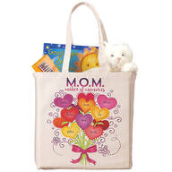 Personalized M.O.M. Bouquet of Hearts Tote