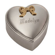 Silverplated Heart Box - Personalized