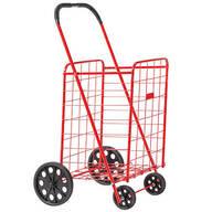 Deluxe Steel Shopping Cart