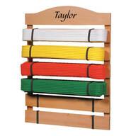 Personalized Karate Belt Rack