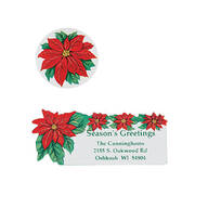 Poinsettia Labels and Seals Set/Both