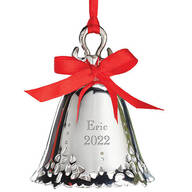 Personalized Silver Tone Bell Ornament