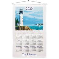 Personalized Lighthouse Calendar Towel